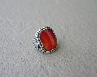 Carnelian Red Gemstone Equestrian Horse Ring Sterling Silver Sizes 9,10,11 and 12,Equestrian Jewelry