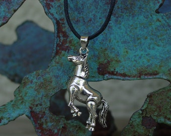 Movable  Horse Pendant .925 Sterling Silver,Equestrian Necklace,Horse Jewelry