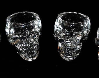 Set of Four Skull Shot Glasses
