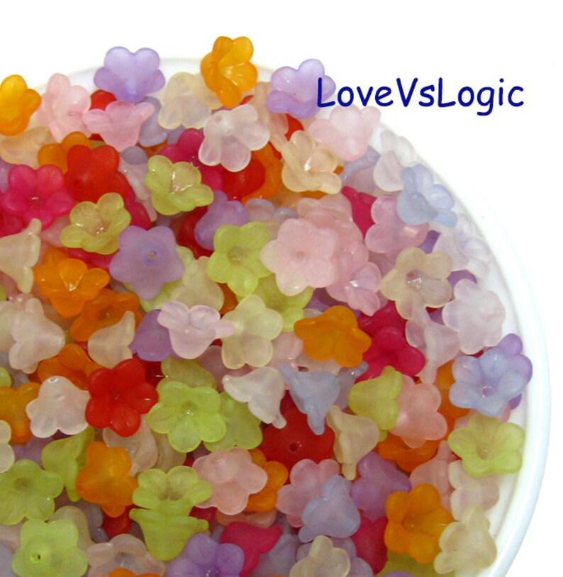 600 Acrylic Flower Beads Wholesale Mix Matte Colors.