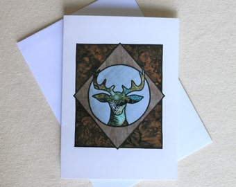 Stags Head Greeting Card
