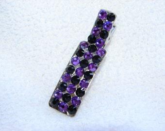 Swarvoski Hair Clip Purple and Black