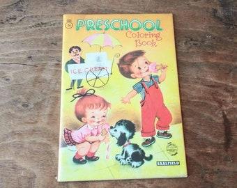 Vintage Ephemera 1956 Saalfield Ben Franklin Coloring Book