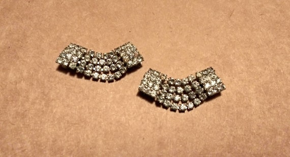 3 Antique Vintage Shoe Clips Ornate Pearls Rhinestones Real Shoe Bling All Different Jewelry