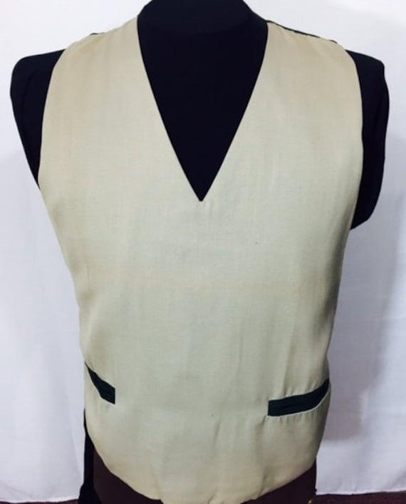 1960s – 70s Men's Ties | Skinny Ties, Slim Ties Vintage Vest Mens Pullover Khaki Olive Forest Green Lined Distinctive Sportswear 50s 60s Mid Century Fashion Waist Pockets Medium $26.35 AT vintagedancer.com