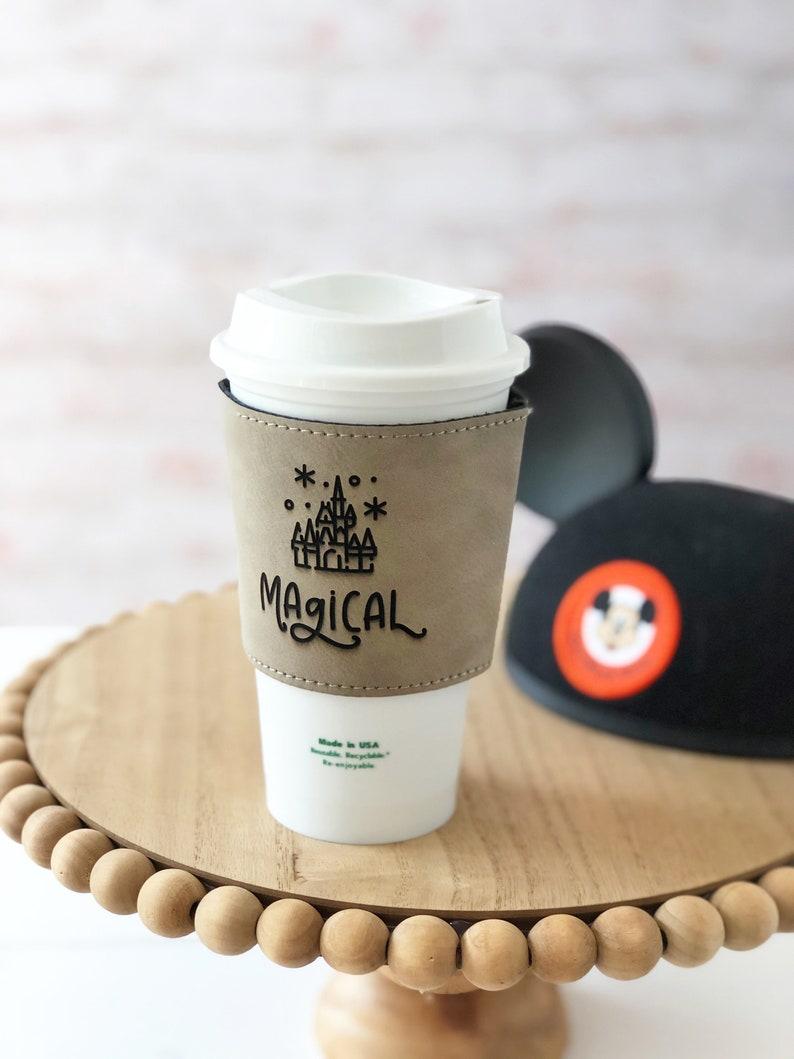 Magical COFFEE SLEEVE disney coffee sleeve magic kingdom image 0