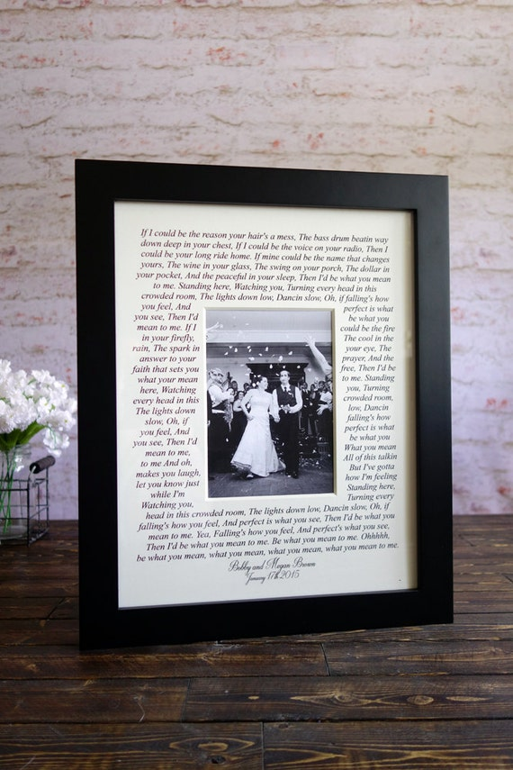 Wedding Song Lyrics Photo Mat Personalized With Names First Etsy