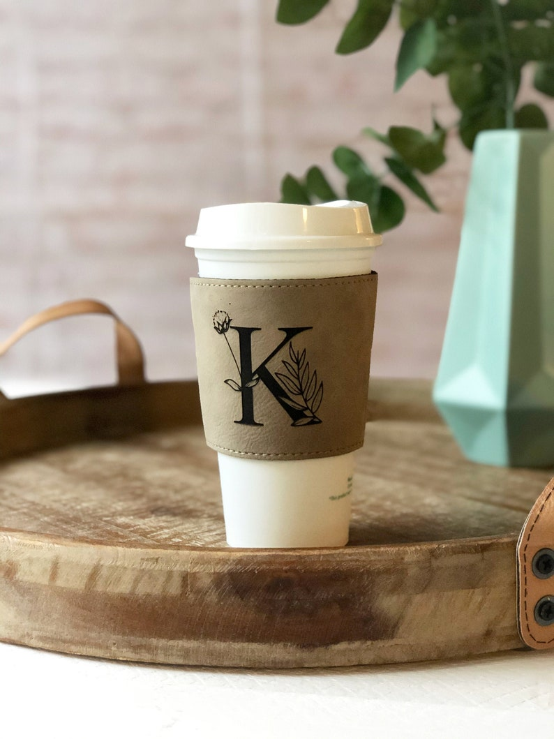 monogrammed COFFEE SLEEVE coffee sleeve monogrammed mug image 0