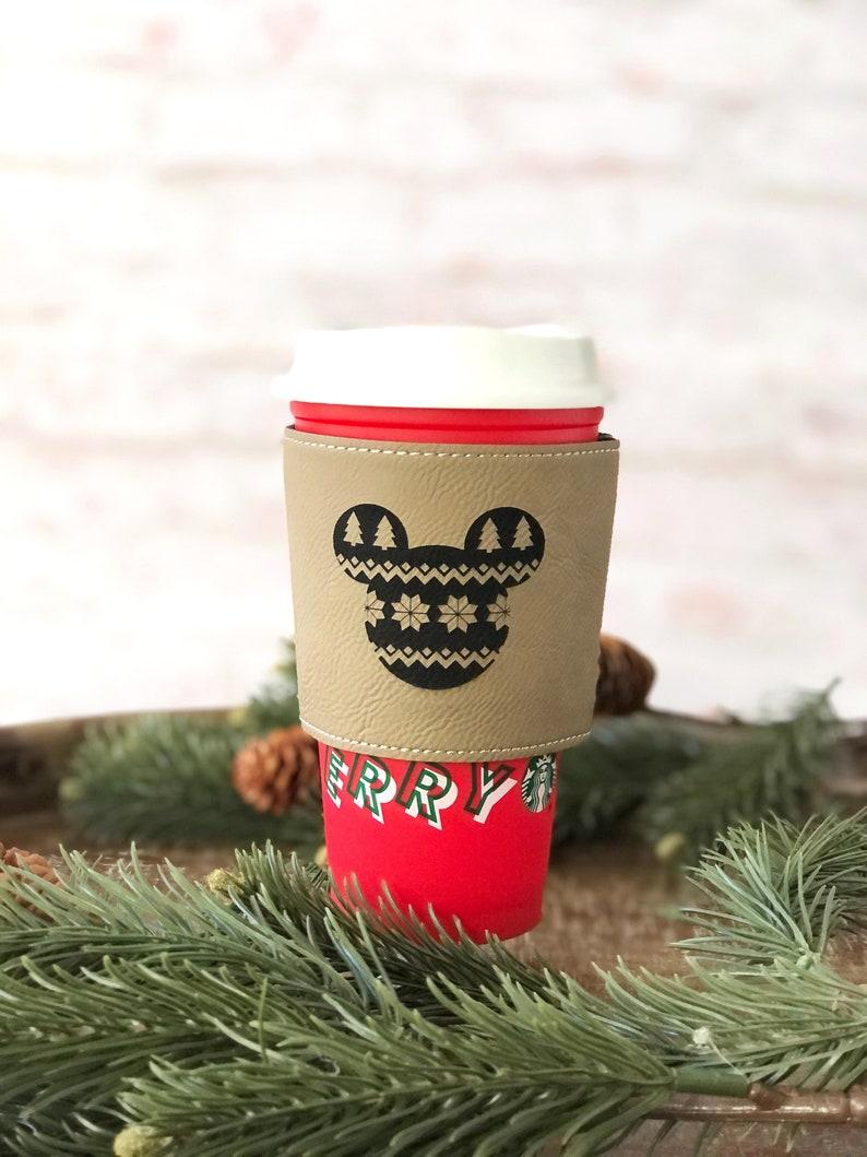 Mickey Christmas COFFEE SLEEVE disney coffee sleeve image 0