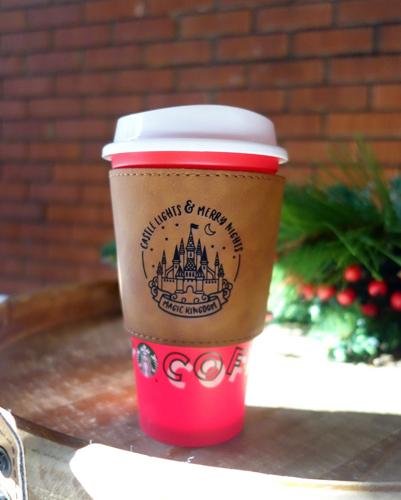 castle lights and merry nights COFFEE SLEEVE disney image 0