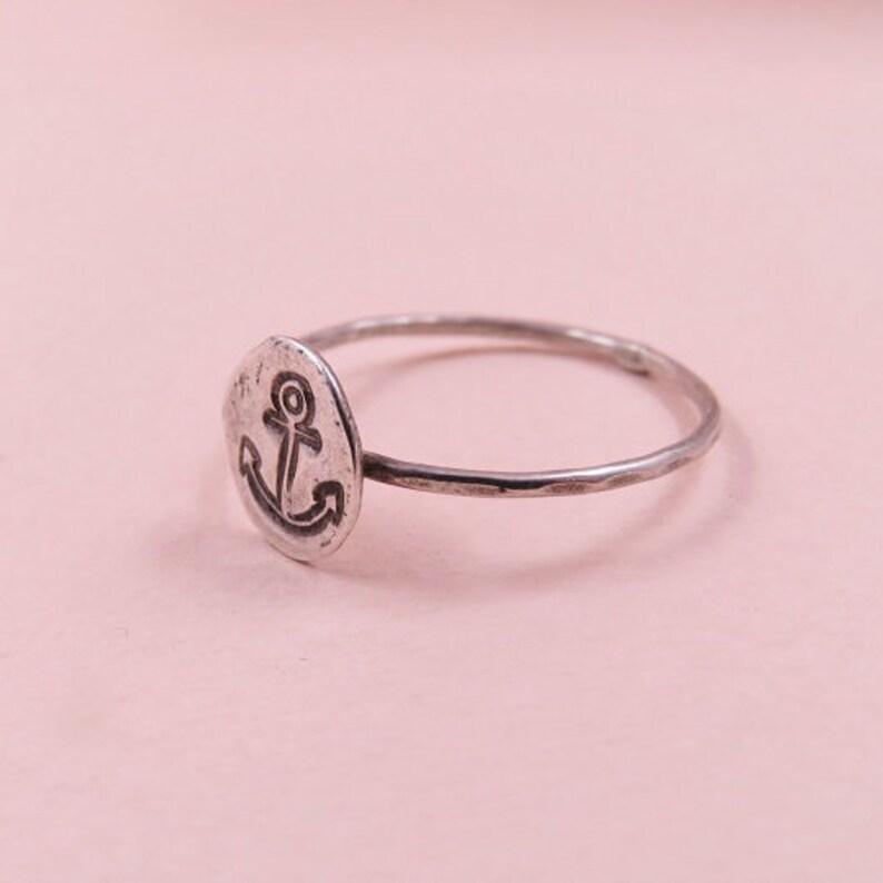 Anchor Stacking Ring Silver Ring