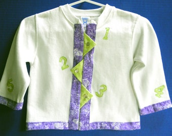 Adorable Numbers Sweatshirt Jacket For a Toddler