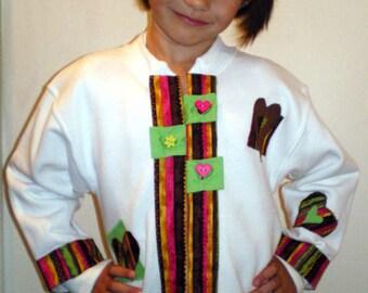 Childs  Youth Size Small Fashion Sweatshirt Jacket with Pizazz