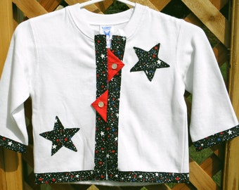 Adorable Patriotic Sweatshirt Jacket for Toddler or Youth