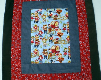 Childs Carry Around Quilt, Cowboy Or Cowgirl Carry Around Quilt.