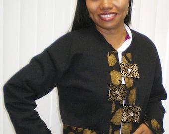 Sweatshirt Jacket with pizazz