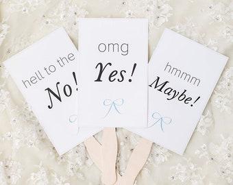 Wedding Dress Shopping Voting Signs Download, I Said Yes To The Dress, Wedding DIY, Wedding Printable, Dress Shopping, Wedding Signs