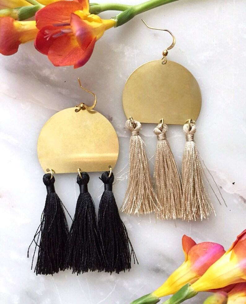 Triple tassel earrings image 0