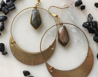 Starling Earrings with stone