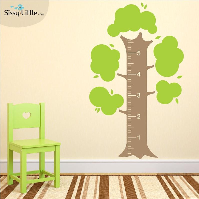 Measurement Tree  Vinyl Wall Decal image 0