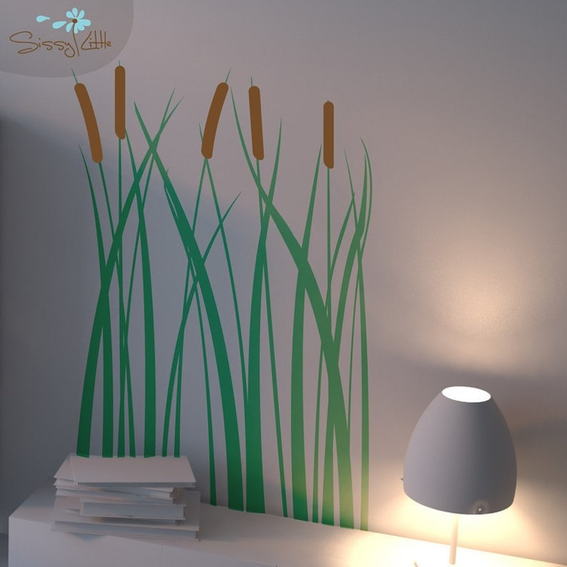Lake-side Cattails  Vinyl Wall Decal image 0