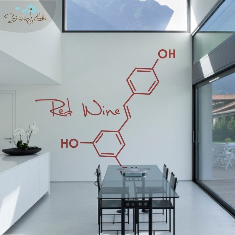 Party Molecules  1 Large  Vinyl Wall Decal image 0