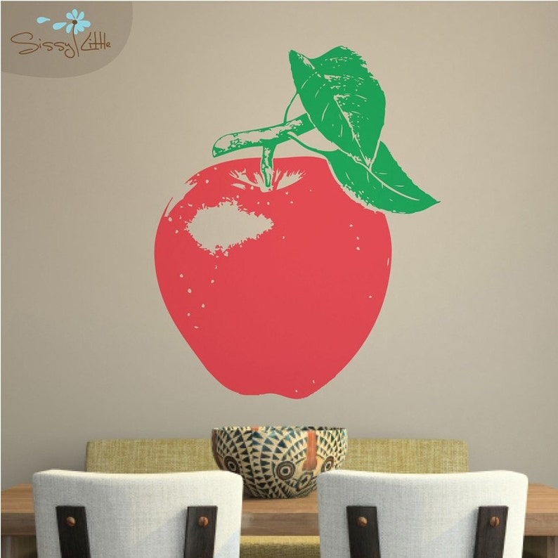 Apple a Day  Vinyl Wall Decal image 0