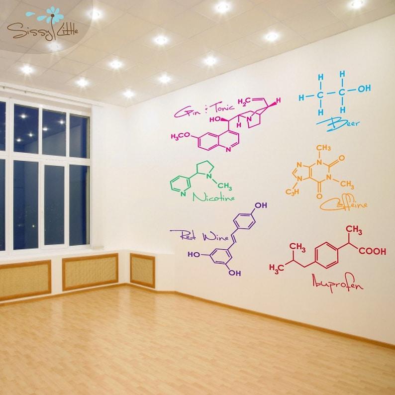 Party Molecules  Medium  Set of 6  Vinyl Wall Decals image 0