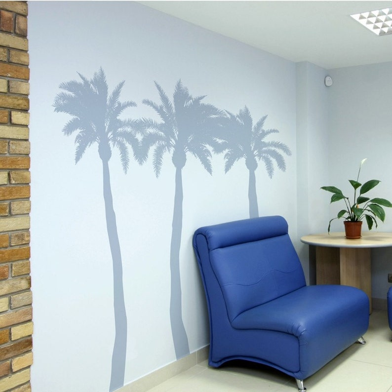 Palm Trees  Set of 3 Vinyl Wall Decals image 0