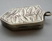 Antique Victorian Silver Leaf Locket