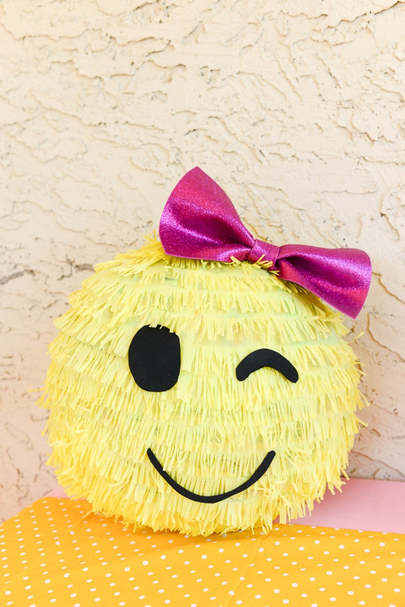 Emoji Pinata Emoji Party Smiley Face Girl Emoji Etsy