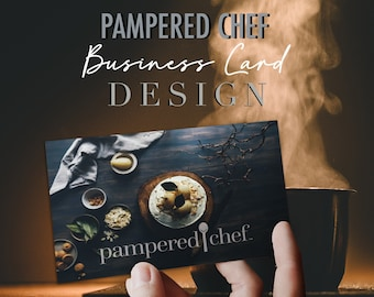 Pampered Chef Independent Consultant Business Card Design - Sophisticated Image - Multi Level Marketing - MLM - Free Shipping!