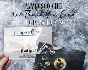 Pampered Chef Independent Consultant Thank You Card Design - Gift Certificates - Multi Level Marketing - MLM
