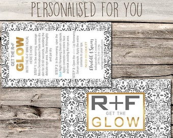 Rodan + Fields Glow Mini Facial Card / Marketing / - Business Card Size - Multi Level Marketing - MLM - Free Shipping USA ONLY!