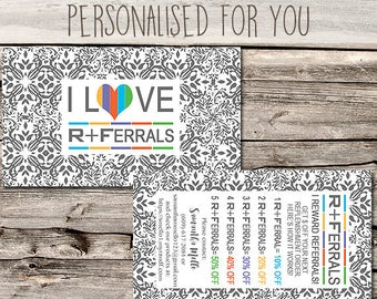 Rodan + Fields Referral Card / Marketing / - Business Card Size - Multi Level Marketing - MLM - Free Shipping USA ONLY!