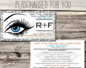 Rodan + Fields Lash Boost / Marketing / Referral Card - Business Card Size - Multi Level Marketing - MLM - Free Shipping USA ONLY!