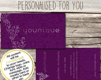 younique independent consultant business card design business cards multi level marketing mlm free shipping usa only - Younique Business Cards