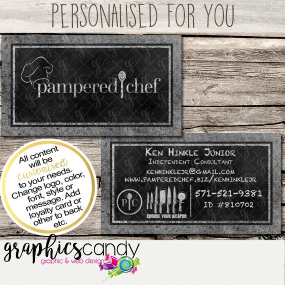 Pampered Chef Independent Consultant Business Card Design