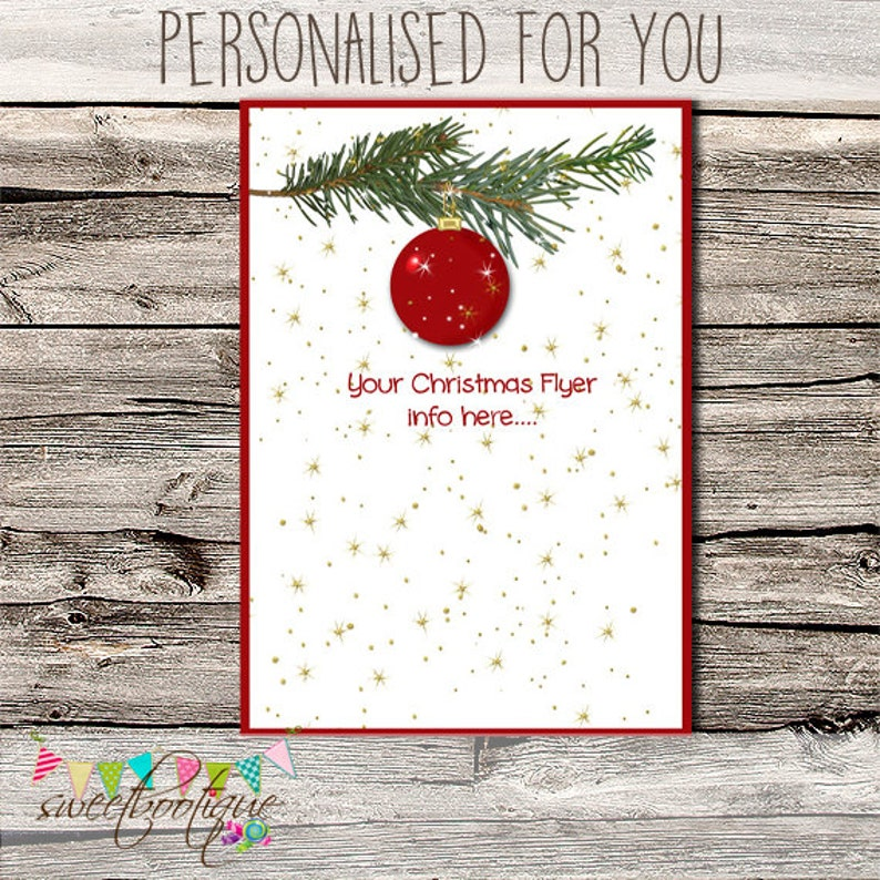 Advertisement Marketing Customised Premade Christmas Flyer Flyer Digital Ad