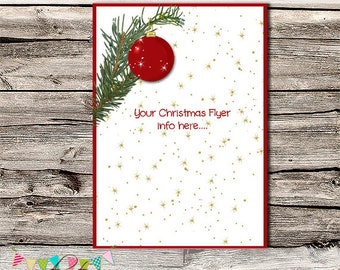 Customised Premade Christmas Flyer - Marketing, Flyer, Advertisement, Digital Ad