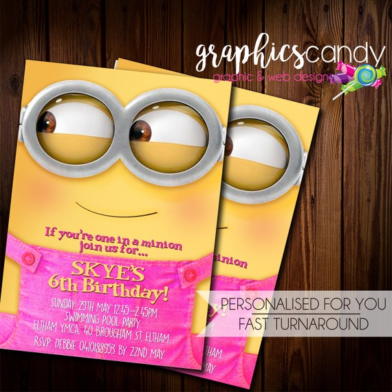 image regarding You Re One in a Minion Printable named Minion Ladies Invitation - Birthday Occasion or Youngster Shower