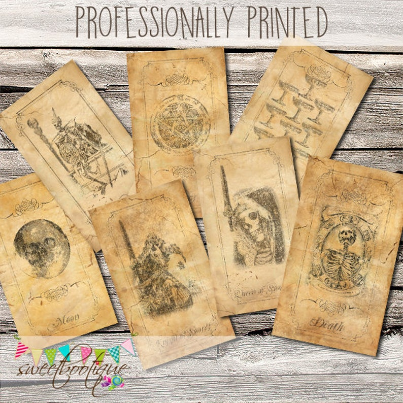 Gothic Tarot Deck  78 Cards  Professionally Printed  image 0