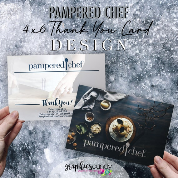 Pampered Chef Independent Consultant Thank You Card Design Gift Certificates Multi Level Marketing Mlm By Graphicscandy Diy Party Printables Catch My Party