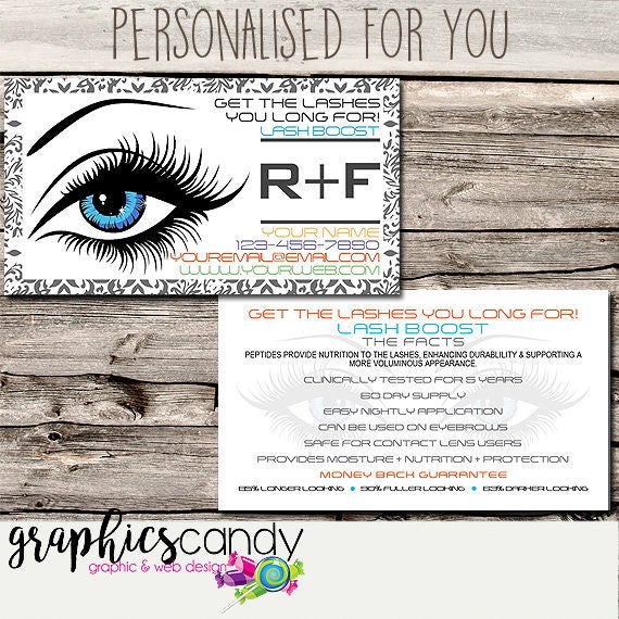 0b574db6175 Rodan + Fields Lash Boost / Marketing / Referral Card - Business Card Size  - Multi Level Marketing - MLM - Free Shipping USA ONLY!