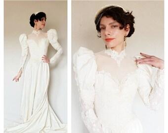 80s Wedding Dress.80s Wedding Dress Etsy