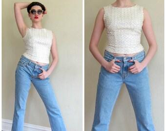 Vintage Levis 505 Jeans / Light Blue Womens Classic  Highwaisted Denim Regular Fit Straight Leg Jeans  / Small / Bohemian Vintage