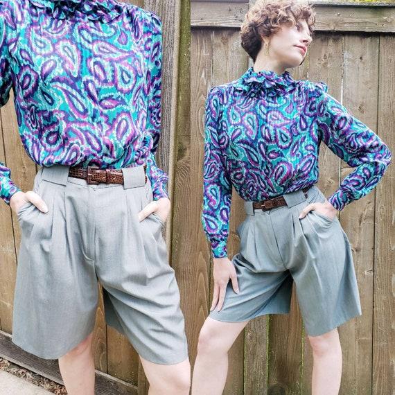 Vintage Max Mara Gray Dress Shorts / Designer High