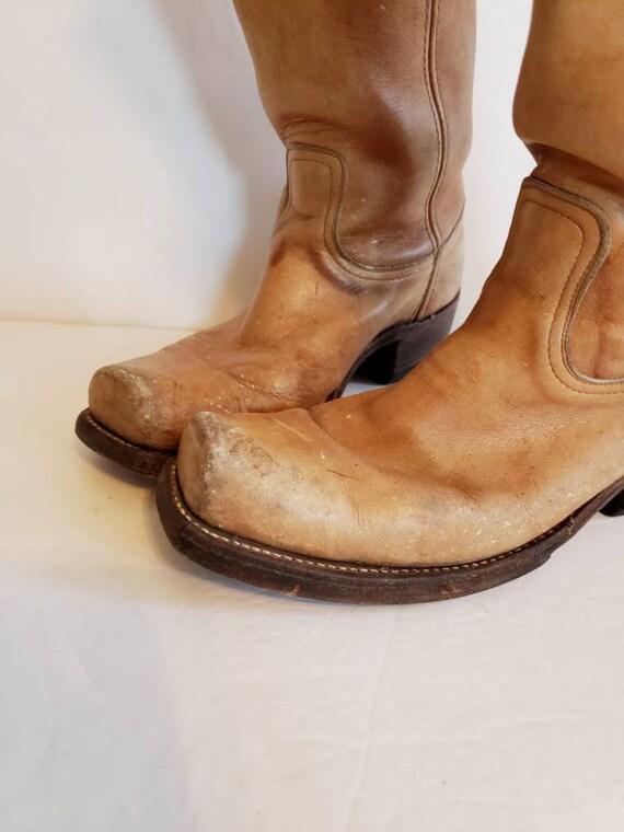 Vintage Light Brown FRYE Cowboy Boots / Mens 8 Cou