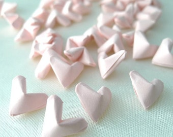 50 Sweet Candy Romantic Pink Origami Lucky Hearts