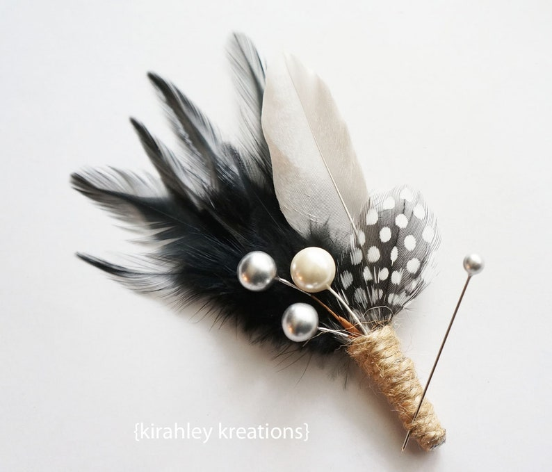 Hat Feather feathers groomsmen groom Boutonniere Mens lapel pin buttonhole